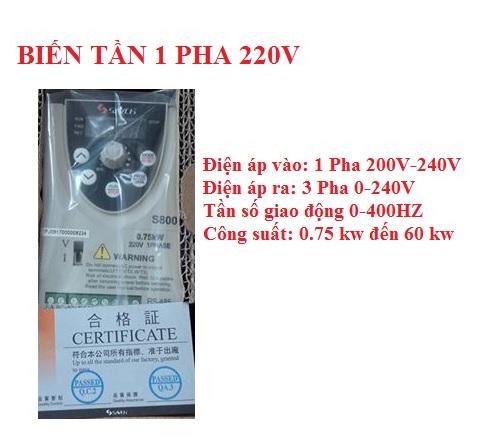 Biến tần 3 pha 220V
